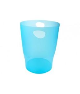 Exacompta Ecobin - Corbeille à papier 15L - turquoise translucide