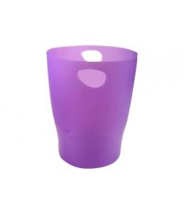Exacompta Ecobin - Corbeille à papier 15L - violet translucide