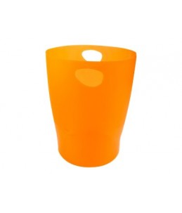 Exacompta Ecobin - Corbeille à papier 15L - orange translucide