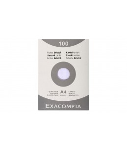 Exacompta - 100 Fiches bristol - A4 - blanc - petits carreaux