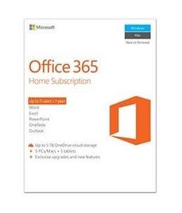 Microsoft Office 365 Home - version boîte (1 an) - 5 téléphones, 5 PC Mac, 5 tablettes