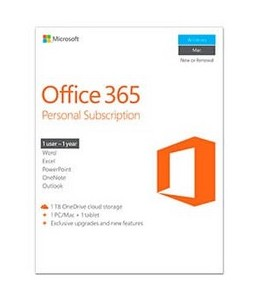 Microsoft Office 365 Personal - version boîte (1 an) - 1 téléphone, 1 tablette, 1 PC Mac