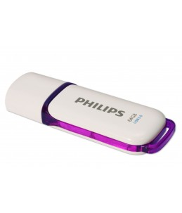 USB KEY SNOW PHILIPS 64GB 3.0 PURPLE