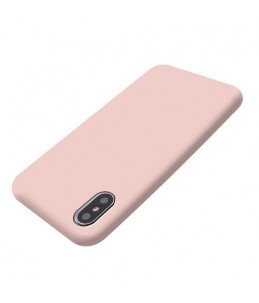 BIGBEN - Coque soft touch Iphone X/XS - Rose Poudré