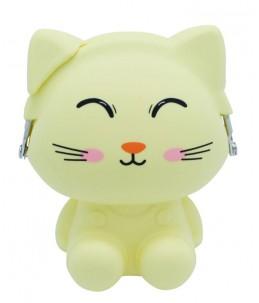 Porte-monnaie silicone chat