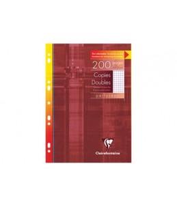 Clairefontaine 200 copies doubles petits carreaux A4 perforées