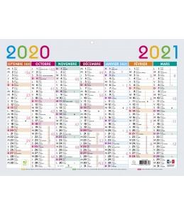 Calendrier Multicolore 29,5 x 22 cm - Septembre à Septembre - Exacompta