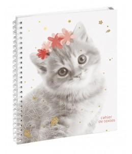 Cahier de textes spiralé Funny Pets - 17 x 22 cm - 2 modèles disponibles - Exacompta