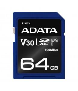 USB ADATA SDXC UHS-I 64GB U3 V30S
