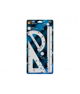 Wonday  Kit de traçage 3 pièces    aluminium