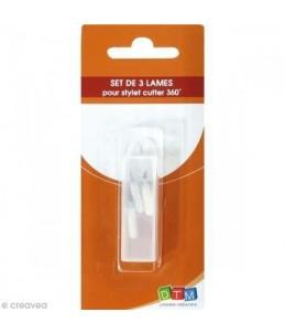 SET DE 3 LAMES DE RECHANGE POUR 430020 STYLET CUTT