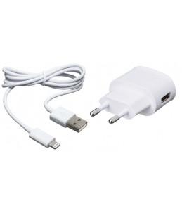 BigBen - chargeur secteur pour iphone 5 - 1 USB + 1 câble de charge - blanc