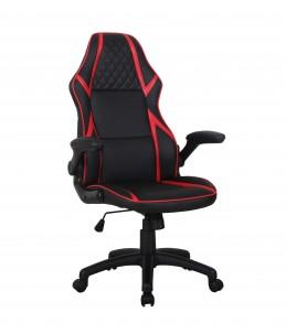 Fauteuil gamer RACER SPEED - accoudoirs rabattables - Noir et rouge