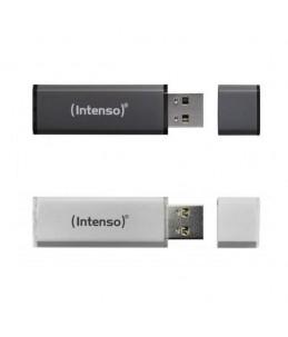CLE USB INTENSO PACK 2* 32GO ALU LINE NOIR & GRISE