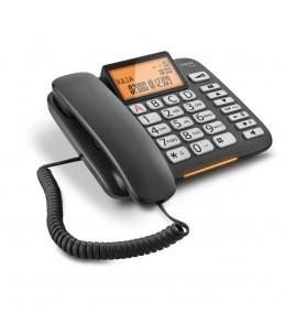 Gigaset DL580 - téléphone filaire - noir