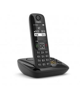 Gigaset AS690A - téléphone sans fil - avec répondeur - noir