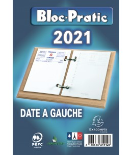 Bloc-Pratic - Bloc de bureau - date à gauche - Exacompta