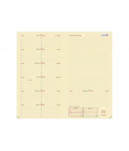 Impala Italnote S - Agenda de poche spiralé - 1 semaine sur 2 pages - 8,8 x 17 cm - disponible dans différentes couleurs - Qu