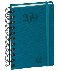 Swan - Agenda de poche spiralé - 1 jour par page - 9 x 15 cm - disponible dans différentes couleurs - Exacompta