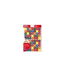Apli - 3 feuilles gommettes chiffres - coloris assortis