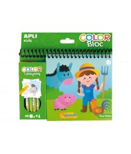 APLI kids COLOR Bloc The farm - crayon