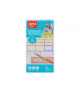Apli - 35 Étiquettes autocollantes plastifiées