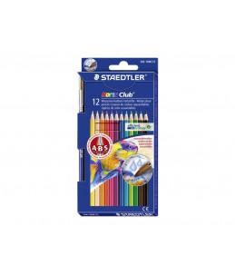 Staedtler Noris club - 12 crayons de couleur aquarellables
