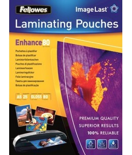 Fellowes - 25 pochettes de plastification A5 (154 x 216 mm) - 80 microns - brillantes