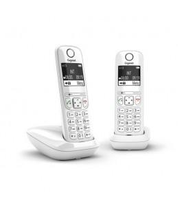 Gigaset AS690 Duo - téléphone sans fil + combiné supplémentaire - blanc