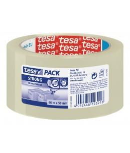 Tesapack Strong - Rouleau adhésif d'emballage - 50 mm x 66 m transparent