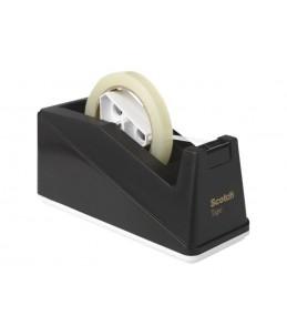 Scotch - Dévidoir lourd de bureau noir - double bague 25 et 76 mm