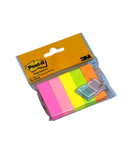 Marque-pages Post-it en papier - Couleurs néons - Lot 5 x 100