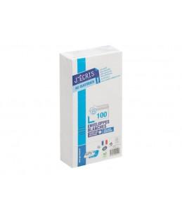 GPV EVERYDAY - 100 Enveloppes blanches - 110 x 220 mm - avec bande auto-adhésive
