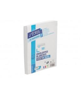 GPV EVERYDAY - 50 Enveloppes blanches - 162 x 229 mm - avec bande auto-adhésive