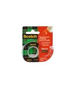 Scotch Crystal - Ruban adhésif avec dévidoir - 19mm x 7,5m