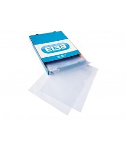 ELBA - 100 Pochettes coin - A4 - pour 25 feuilles - 15/100 - cristal