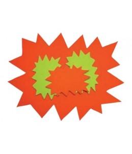 Apli Agipa - 10 éclatés fluo - 240 x 320 mm - jaune. orange - carton