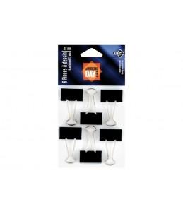 JPC - 6 Pinces - feuilles repliables - 32 mm