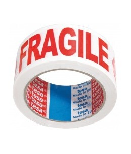 "tesa - Adhésif d'emballage - mention ""Fragile"" - 66 m x 50 mm"