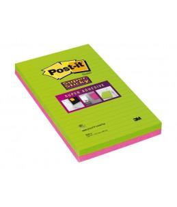 Notes Super Sticky Post-it Grands Formats - 127 x 203 mm - 2 blocs
