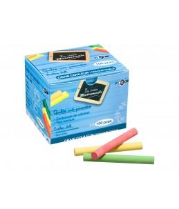 JPC - 100 Craies - anti-poussière - couleurs assorties