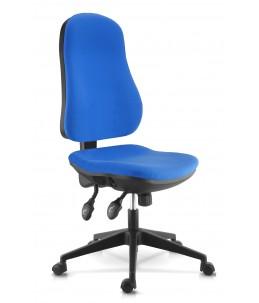 Fauteuil de bureau confortable - accoudoirs en option - bleu - LIBRA