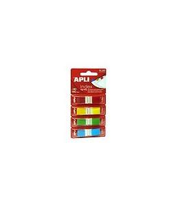 APLI Zig-zag - Marques-pages pour index - 12 x 45 mm - 140 feuilles - jaune, bleu, vert, rouge
