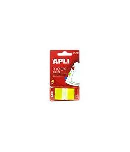 APLI Zig-zag - Marques-pages pour index - 25 x 45 mm - 50 feuilles - jaune