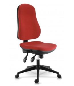Fauteuil de bureau confortable - accoudoirs en option - rouge - LIBRA