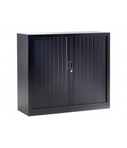 Pierre Henry - GENERIC - Armoire métallique monobloc à rideaux - H100xL120xP43 - noir