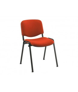 Chaise visiteur - MTI - empilable - rouge