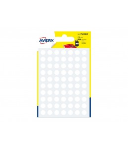 Avery - 560 Pastilles blanches - Diametre 8mm