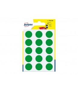 Avery - 90 Pastilles vertes - Diametre  19mm