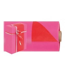 Logistipack - 1 Rouleau de papier cadeau - 70 cm x 40 m - Rouge/Rose